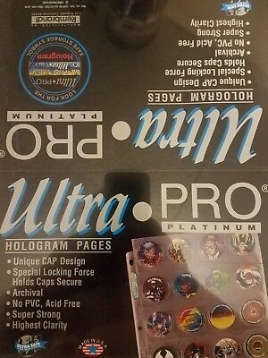 Ultra Pro Platinum Pocket Pages - Pog Tazos Coins Milk Caps  - 1 Box