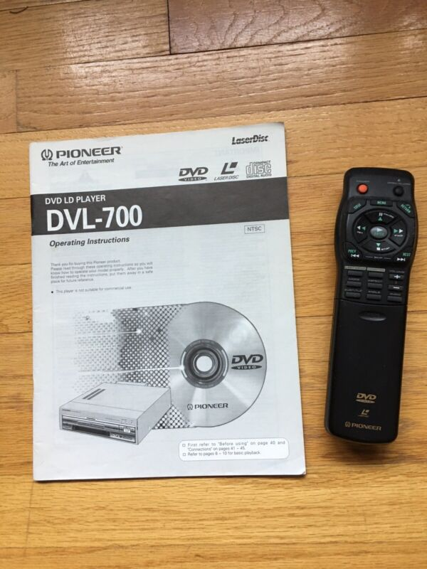 REMOTE CONTROLER & Owners's Operating MANUAL For PIONEER DVL-700,ORIGINAL