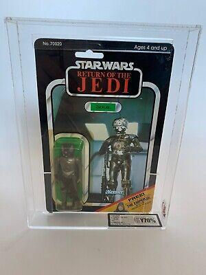 Rotj Kenner Vintage Star Wars Zuckuss The Emperor Offer Moc Carded 65 back UKG
