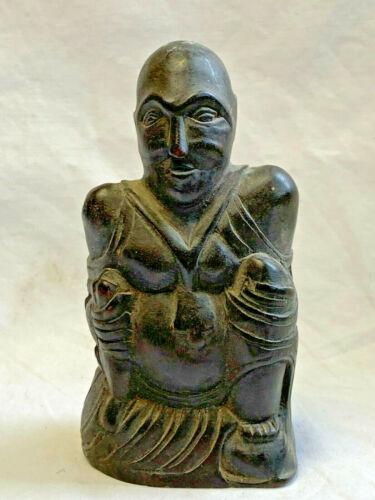 African Vtg Carved Wood Tribal Statue Fetish Figure Sculpture Man Art Craft