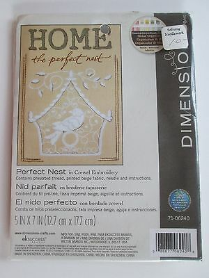 """Dimensions Crewel Embroidery Kit """"Perfect Nest"""" 5x7   2012  NOS"""