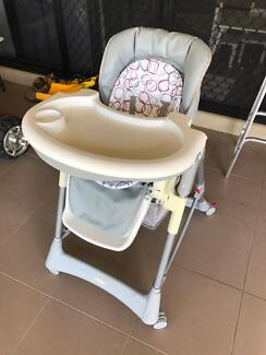 Steelcraft 'Dolce' Hi-Lo High Chair Highchair Hi Baby Toddler