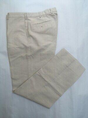 NEW Ermenegildo Zegna by Incotex Beige Linen Trousers Size 34 x 32 Classic fit