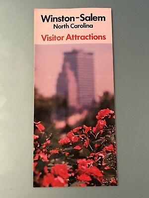 Vintage Winston-Salem North Carolina Visitor Attractions Brochure 1970s Pamphlet