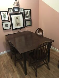 Large wood table set