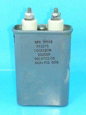 Hec 1uf 2000 Vdc Hermetically Sealed Oil Capacitor 1mfd 2000v Dc 2000 Volts