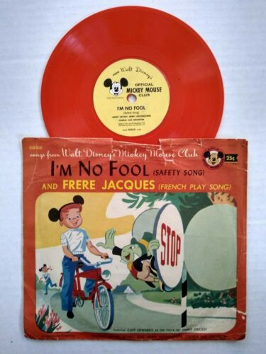 D232 IM NO FOOL FRERE JACQUES Vintage Mickey Mouse Club Disney 78 RPM Record