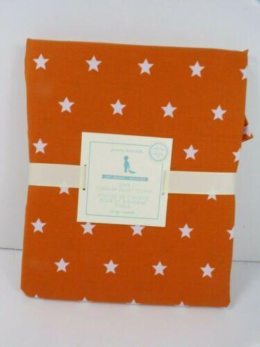 Pottery Barn Kids Organic Star Toddler Duvet Cover Orange #6474