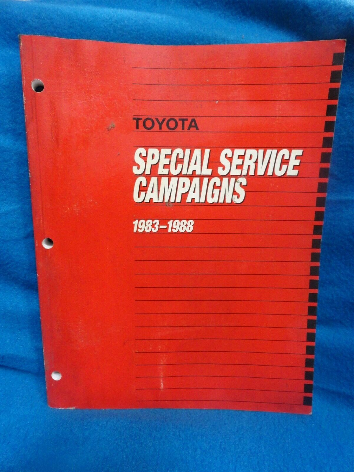 1983-1988 Toyota ALL MODELS ~ FACTORY Special Service CAMPAIGNS ~ OEM ORIGINAL