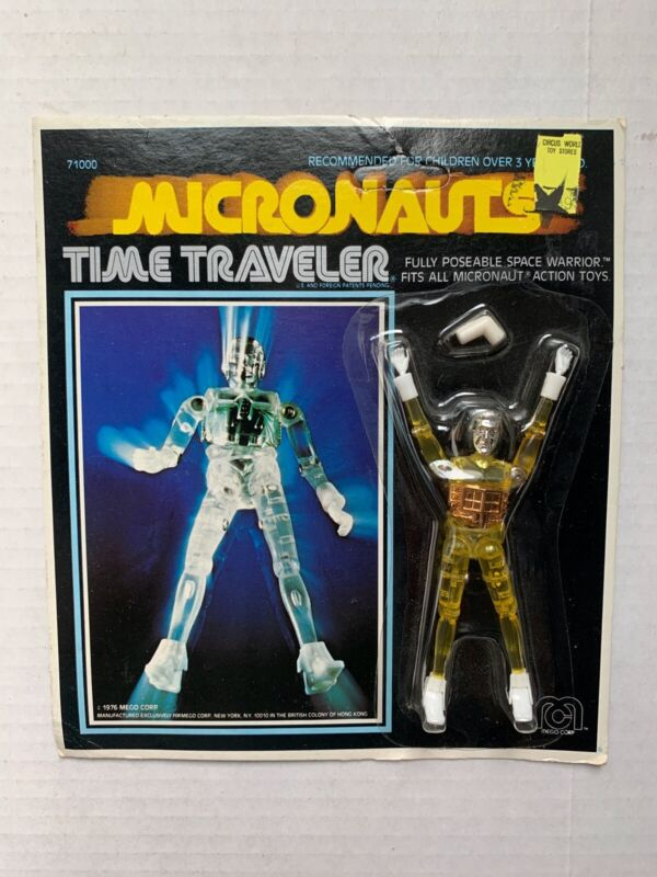 VINTAGE - Micronauts TIME TRAVELER Yellow - Mego 1976 MOC Unpunched