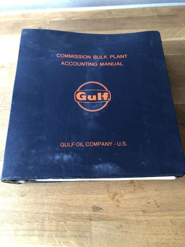 Vintage Gulf Oil Commision Bulk Plan Accounting Manual 1970