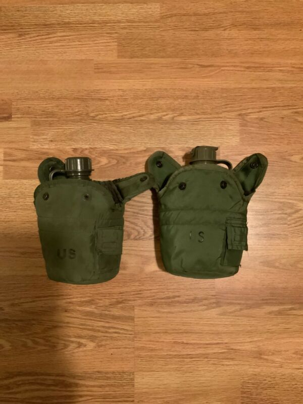 US Military Canteens With Covers and Cup