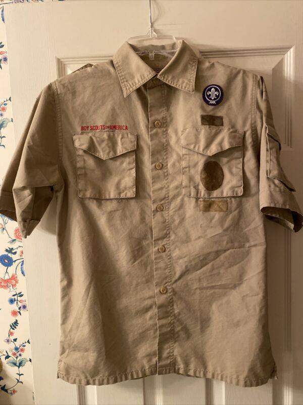 Boy Scout BSA UNIFORM SHIRT Youth Large New Style Short Sleeve D26
