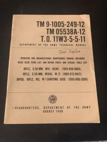 TM 9-1005-249-12 TM 05538A-12 T.O. 11W3-5-5-11 Army Technical Manual 1968 PB