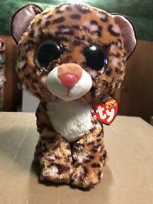 """Ty PATCHES -Orange/Brown Spotted Leopard 6"""" Beanie Boo! *Retired* VHTF!"""