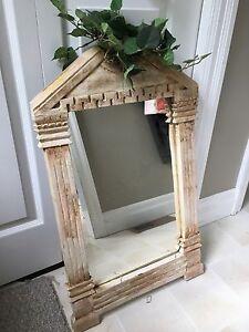 Shabby chic/ rustic decorative mirror.