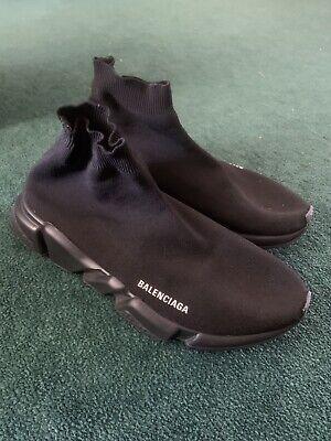 BALENCIAGA Speed Trainer Triple Black Size 12 Men's US Shoes