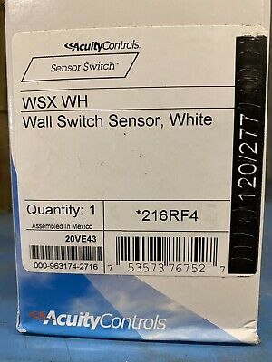 Acuity Controls Wall Sensor Switch Wsx Wh Wall White