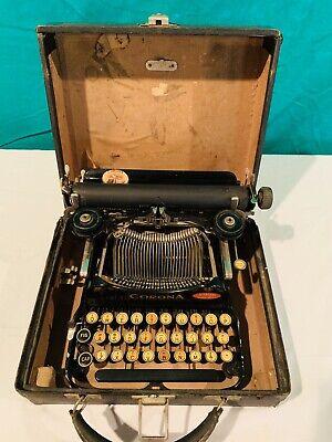 ANTIQUE 1917 No. 3 CORONA TYPEWRITER IN CASE By Corona Typewriter Co. Inc. NY
