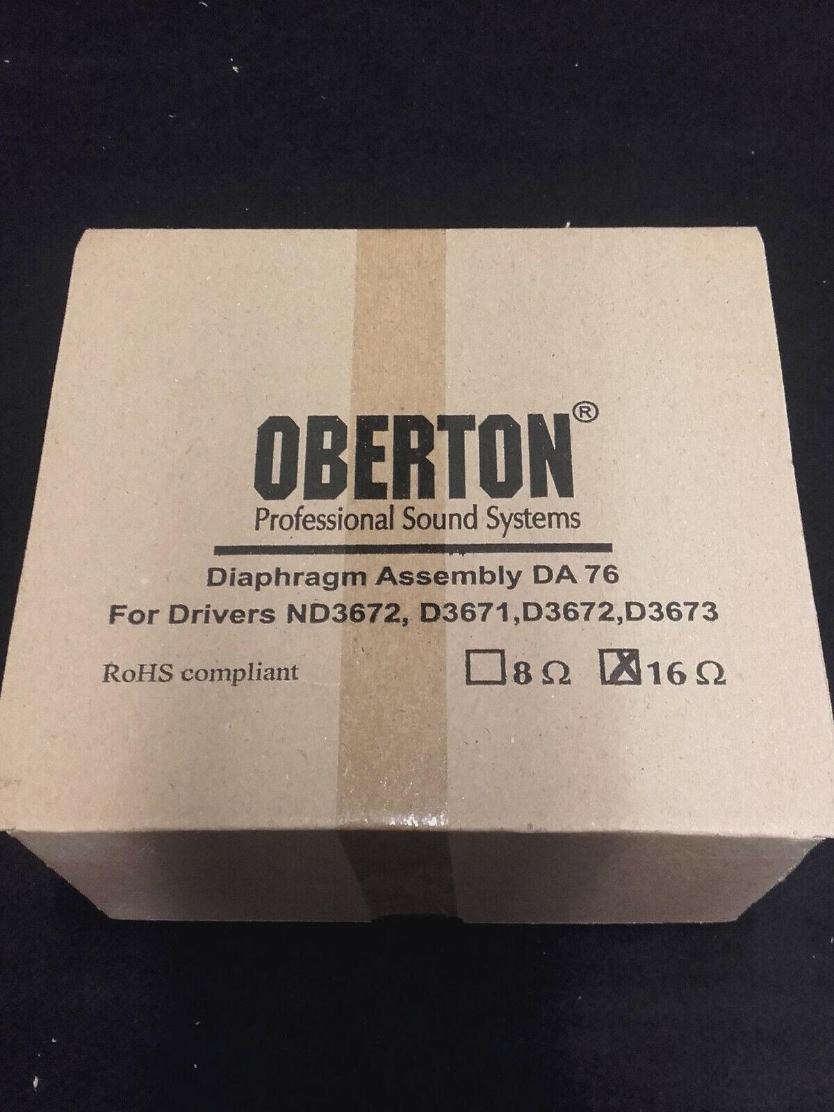 2 Stück Oberton Diaphragma DA76 16 Ohm für Hochtontreiber D3671/D3672/D3673/ND36