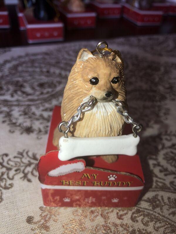 Pomeranian Christmas Ornament, Personalize, New