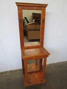D5053 Lovely Baltic Pine Hall Stand w/ Mirror Back Mount Barker Mount Barker Area Preview