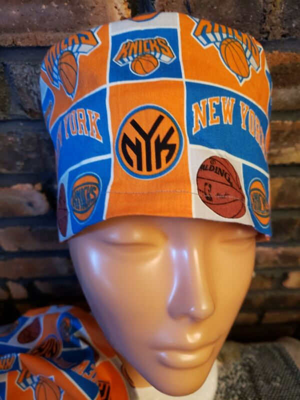 NEW YORK KNICKS Handmade SURGICAL SCRUB CAPS