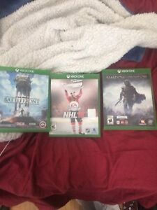 3 Xbox one games in great shape