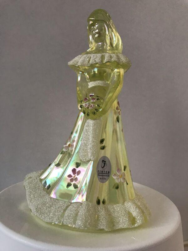 Fenton Hand Painted Art Glass Bridesmaid Figureine Shelley Fenton