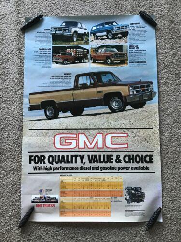 1984  GMC  trucks,  original dealership color showroom poster.