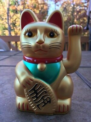 5.5 H Chinese Lucky Good Luck Waving Hand Paw Up Kitty Cat ( Plastic )](Guy Waving)
