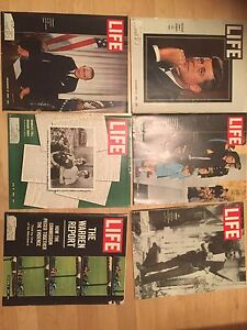 Kennedy era life magazines near mind. Stored for 50 years