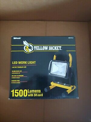 Yellow Jacket Shadow Free Led Work Light 1500lm 15w Shop Jobsite Home Portable