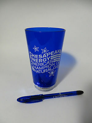Light Up Chesapeake Energy Logo Plastic Cup  Blink  Flash    Pen Black Ink