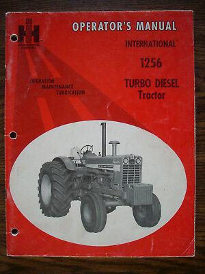 Ih Farmall Mccormick International 1256 Owners Manual