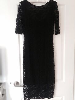 Black lace maternity dress size 8 Sandringham Bayside Area Preview