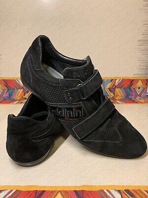 Baldinini Mens Collection Black Suede Signature Sneakers Casual Shoes Sz 10 Mens