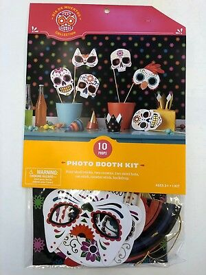 Day of the Dead photo booth kit props 10 pieces Coco party supply Halloween