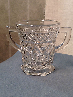 Imperial Glass Crystal Double-Handled Sugar Bowl - Cape Cod Pattern