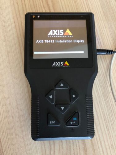 Axis T8412 installation display without charger and battery cover
