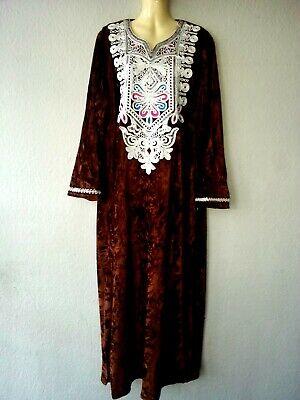 Abaya Vestido Maxi Jellabiya Galabia de Terciopelo Invierno Árabe Talla M
