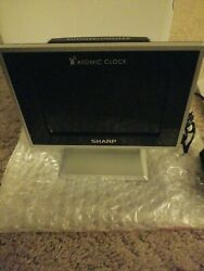 Sharp SPC569 Atomic LCD Tabletop Alarm Clock NEW Open Box