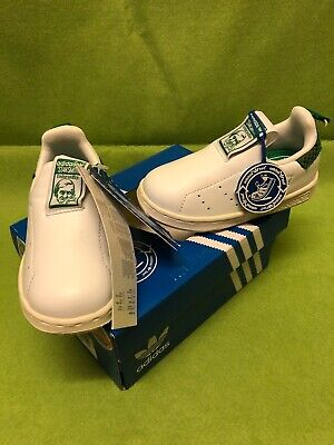 New Adidas Infants Stan Smith Originals 360 I White Trainers Uk Size 6 K