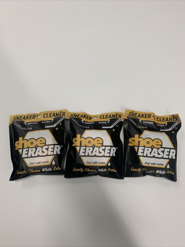 SHOE ERASER White Sole Sneaker Cleaner 3 Pack Clean Your Kicks New 🌹🌹🌟🌟💫💫