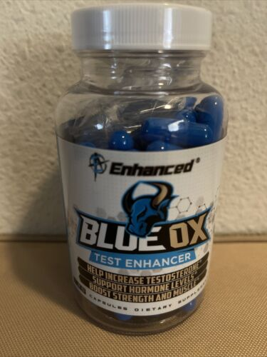 Blue Ox By EC - Testosterone Booster Supplement - 120 Capsules Free Shipping