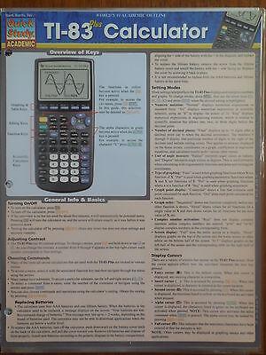 Barcharts Ti 83 Calculator Quick Study Guide