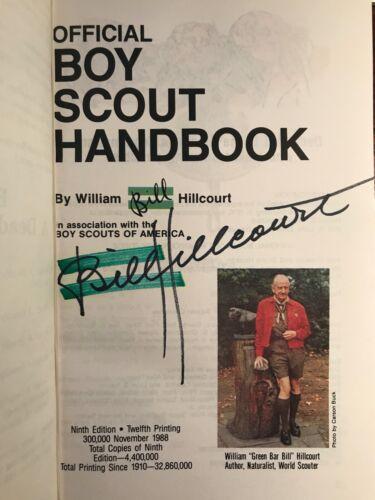 BSA Handbook Green Bar Bill Autographed