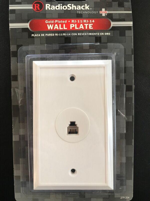 RadioShack Telephone Wall Plate (RJ-11/ RJ-14)