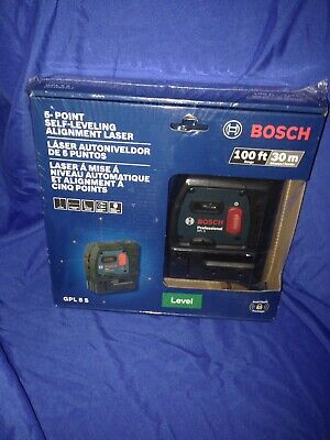 BOSCH 100 ft. 5 Point Self Leveling Plumb and Square Laser GPL 5S New!!!
