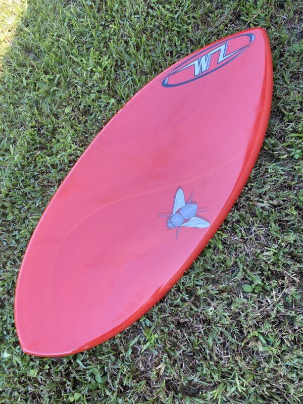 "NEW Wave Zone Fly 48"" Fiberglass Skimboard - BLEM - Red"